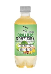 Organic Kombucha Tea - Lime Ginger Cinnamon