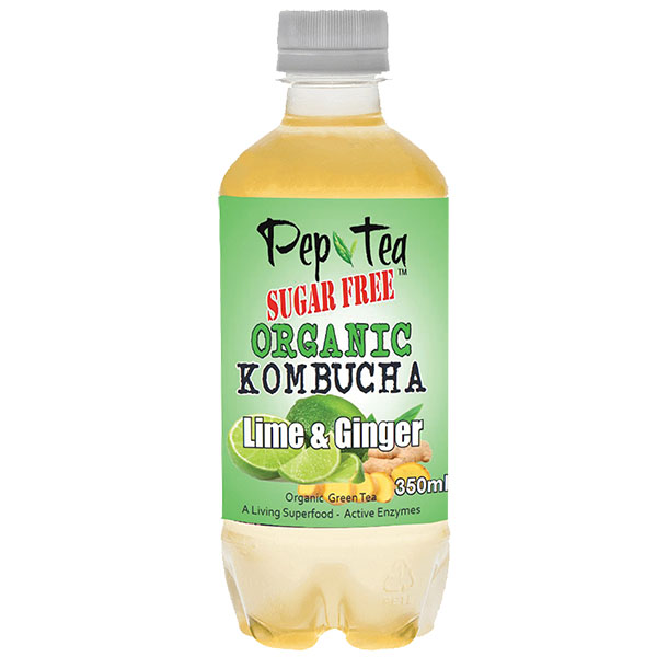 Pep Tea-kombucha-Lime Ginger