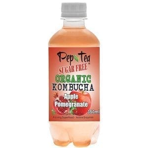Pep Tea-kombucha-Pomegranate & Apple