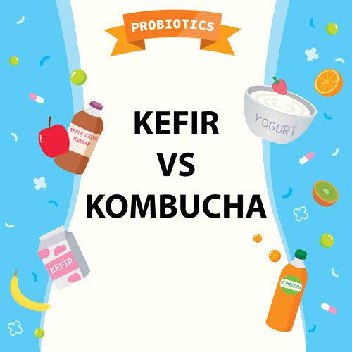 kefir vs kombucha
